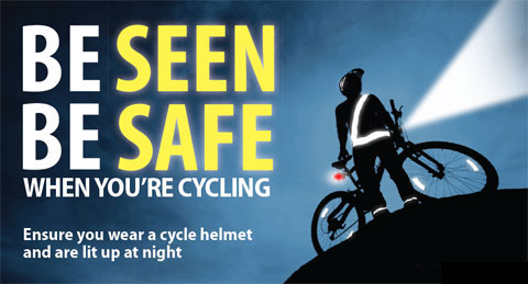 Road Safety GB Operation Flashlight cycle safety