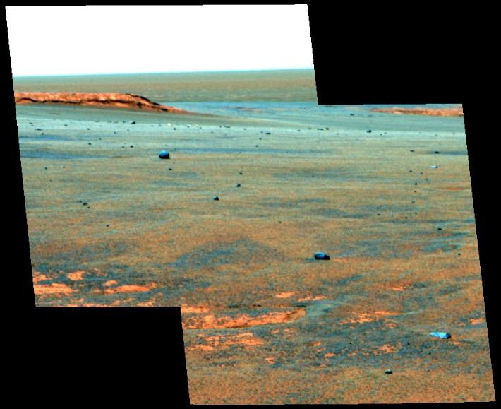 meteorites on Mars